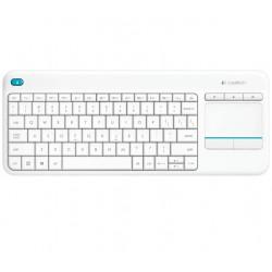 Logitech - K400 Plus teclado RF inalámbrico QWERTY Blanco