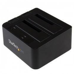 StarTech.com - Base de Conexión USB 3.1 (10Gbps) con UAS de 2 Bahías para Disco Duro o SSD SATA de 2,5 o 3,5 Pulgad