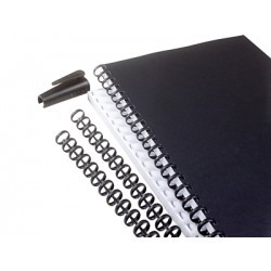 GBC - Canutillo Plástico Zip 16mm Negro (Caja 50)