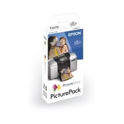 Epson - PicturePack T5570 (135 x papel fotográfico, 1 x cartucho 6 colores)