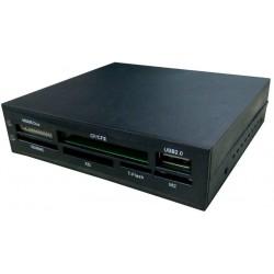 CoolBox - CR-404 Interno USB 2.0 Negro lector de tarjeta