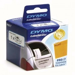 DYMO - LabelWriter Labels Suspension File Negro, Color blanco 220pieza(s) etiqueta autoadhesiva