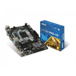 MSI - H110M PRO-VD Intel H110 LGA 1151 (Zócalo H4) mini-ATX