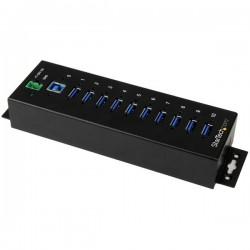 StarTech.com - Hub Industrial de 10 Puertos USB 3.0 con Protección Antiestática ESD y Protección de Picos de 350W