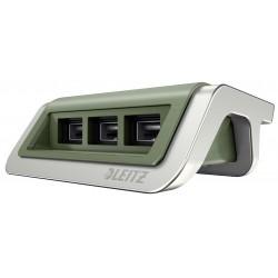 Leitz - 62070053 Interior Verde, Plata cargador de dispositivo móvil