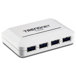 Trendnet - TU3-H4 5000Mbit/s Blanco nodo concentrador