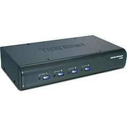 Trendnet - TK-423K 4-Port USB / PS/2 KVM Switch Kit w/ Audio interruptor KVM