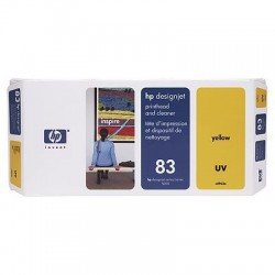 HP - Limpiador de cabezales de impresión y cabezal de impresión UV DesignJet 83 amarillo cabeza de impresora