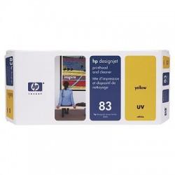 HP - Limpiador de cabezales de impresión y cabezal de impresión UV DesignJet 83 amarillo