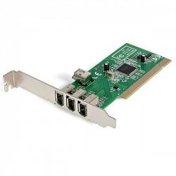 StarTech.com - Adaptador Tarjeta Controladora FireWire 400 PCI 4 Puertos FW 6 Pin Chipset TI - IEEE 1394a