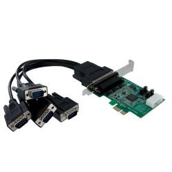 StarTech.com - Tarjeta Adaptadora PCI Express PCIe 4 Puertos Serie Cable Multiconector RS232 16950 Serial