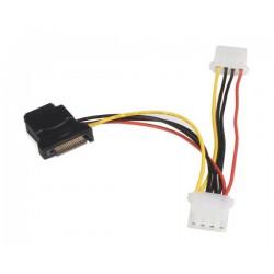 StarTech.com - Adaptador de Cable de Alimentación SATA a LP4 con 2 LP4 Adicionales