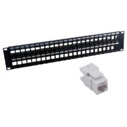 MCL - PB-UNI6A/48N 2U panel de parcheo