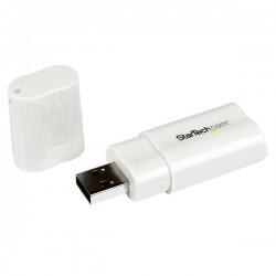 StarTech.com - Tarjeta de Sonido Estéreo USB Externa Adaptador Conversor - Blanco