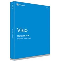 Microsoft - Visio Standard 2016, 1u - 17845023