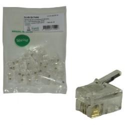 MCL - RJ-09-50 Transparente conector