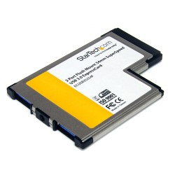 StarTech.com - Tarjeta Adaptador ExpressCard/54 USB 3.0 SuperSpeed de 2 Puertos con UASP - Montaje al Ras - Flush M
