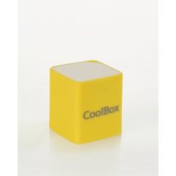 CoolBox - Cube Mini 2W Color blanco, Amarillo