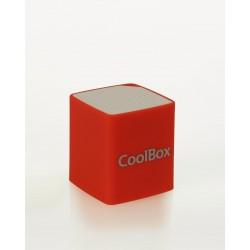 CoolBox - Cube Mini 2W Rojo, Color blanco