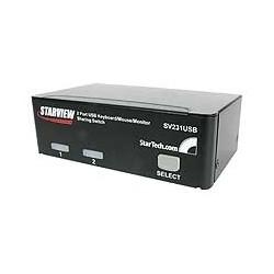 StarTech.com - Conmutador Switch Profesional KVM 2 Puertos Vídeo VGA - USB - Hasta 1920x1440