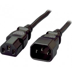 Equip - 112100 cable de transmisión Negro 1,8 m C13 acoplador C14 acoplador