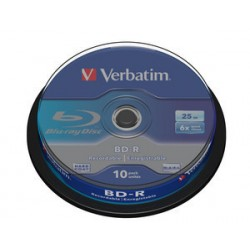 Verbatim - BD-R SL 25GB 6x 10pk