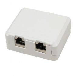 MCL - BM-CAT6B/2 Cat6 Blanco caja de conexiones de red