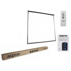 Approx - APPP240E Negro, Color blanco pantalla de proyección