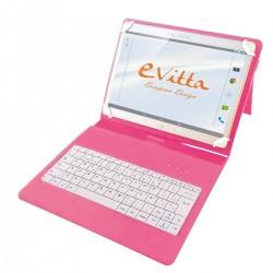 e-Vitta - EVUN000511 teclado para móvil Rosa Español