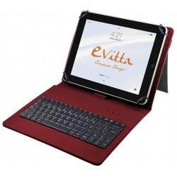 e-Vitta - KeyTab USB teclado para móvil Español Rojo