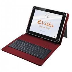 e-Vitta - EVUN000507 teclado para móvil Rojo Español
