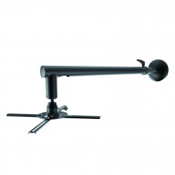TooQ - SOPORTE UNIVERSAL DE PARED GIRATORIO 360º, INCLINABLE Y EXTENSIBLE PARA PROYECTOR, NEGRO