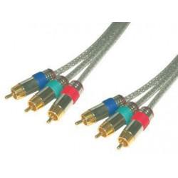MCL - MC706HQ/T-2M 2m RCA RCA Gris componente ( YPbPr) cable de vídeo