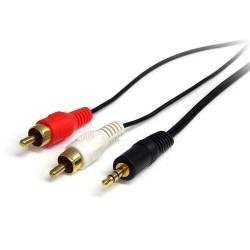 StarTech.com - Cable de 1,8m de Audio Estéreo - 3,5mm a 2x RCA