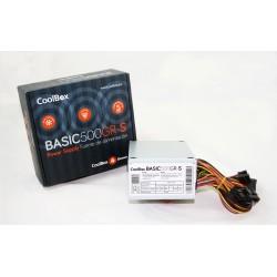 CoolBox - BASIC500GR-S unidad de fuente de alimentación 500 W 20+4 pin ATX SFX Blanco