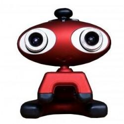Urban Factory - Crazy Cam 3D USB Rojo cámara web
