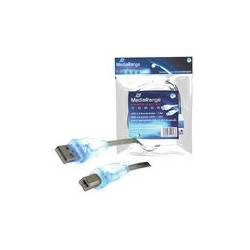 MediaRange - MRCS109 1.8m Azul cable de impresora