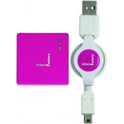 Urban Factory - MHU06UF nodo concentrador USB 2.0 480 Mbit/s Rosa, Blanco