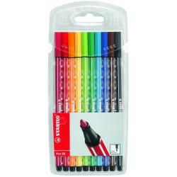 STABILO - Pen 68 rotulador Multicolor 10 pieza(s)