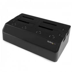 StarTech.com - Base de Conexión eSATA USB 3.0 con UASP de 4 Bahías para Disco Duro o SSD SATA de 2,5 o 3,5 Pulgadas