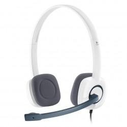 Logitech - H150 2x 3.5 mm Binaurale Diadema Color blanco auricular con micrófono