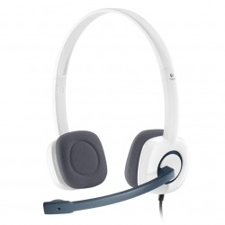 Logitech - H150 Binaurale Diadema Blanco auricular con micrófono