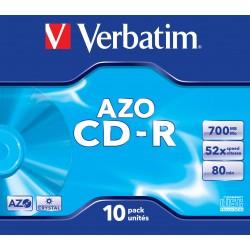 Verbatim - CD-R AZO Crystal 700 MB 10 pieza(s)
