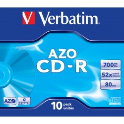 Verbatim - CD-R AZO Crystal CD-R 700MB 10pieza(s)