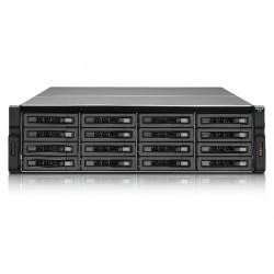 QNAP - REXP-1620U-RP Bastidor (3U) Negro unidad de disco multiple