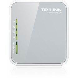 TP-LINK - TL-MR3020 Banda única (2,4 GHz) Ethernet rápido 3G 4G Gris, Color blanco router inalámbrico