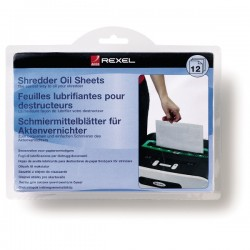 Rexel - Láminas lubricantes para destructora (12)
