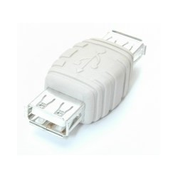 StarTech.com - Adaptador Conversor Cambiador de Género Gender Changer USB A - Hembra a Hembra - Blanco