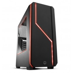 NOX - NXHUMMERMCB carcasa de ordenador Midi-Tower Negro