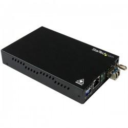 StarTech.com - Conversor de Medios de Ethernet Gigabit de Cobre a Fibra - Monomodo LC - 10km